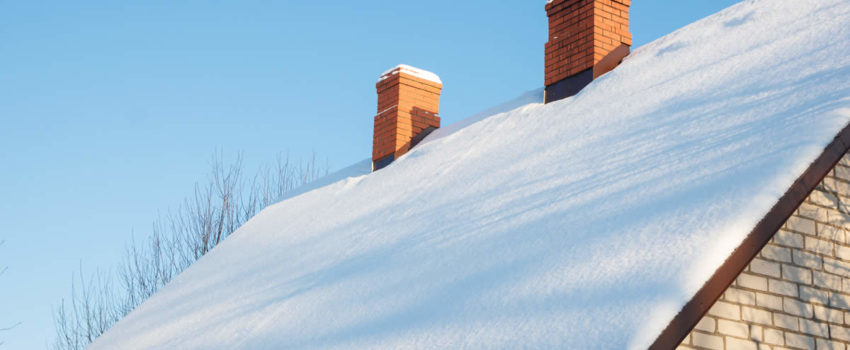 Snow Covered Roof in Livingston County Michigan