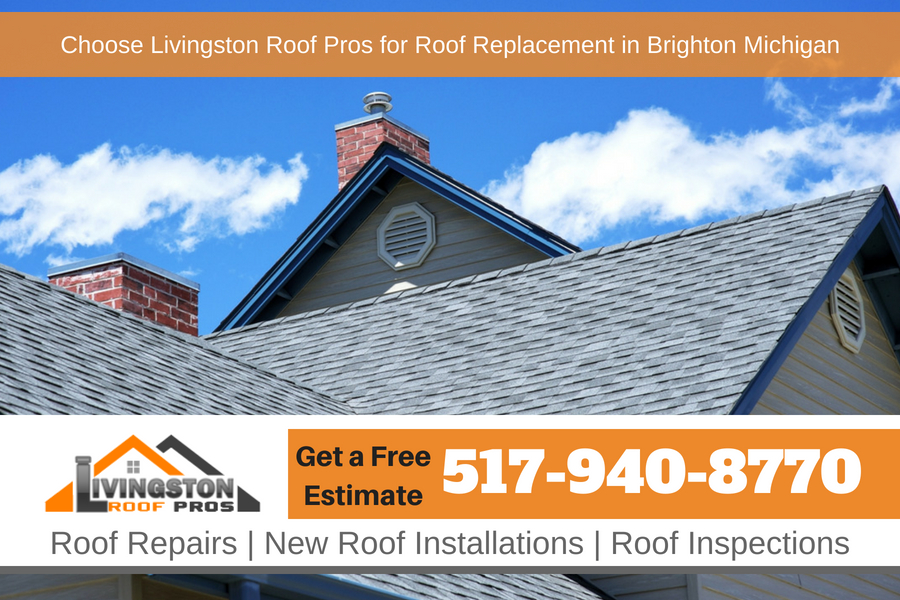 Choose Livingston Roof Pros for Roof Replacement in Brighton Michigan