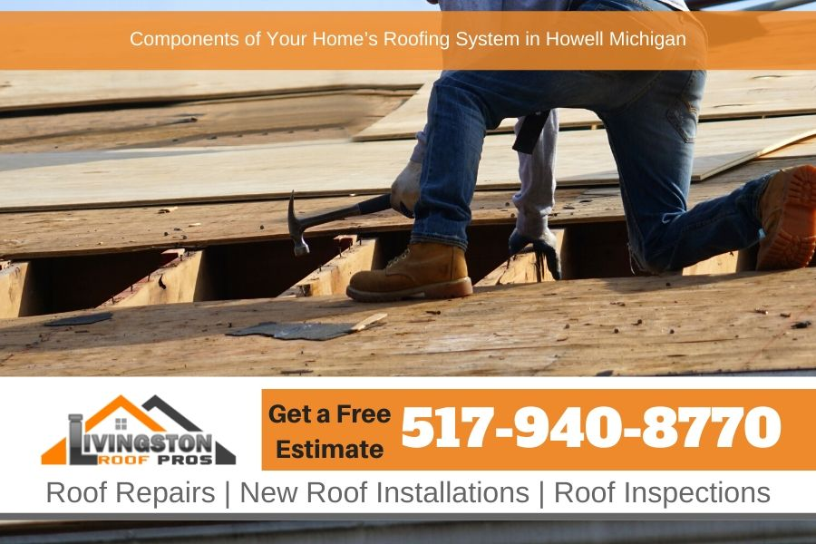 Components of Your Home's Roofing System in Howell Michigan
